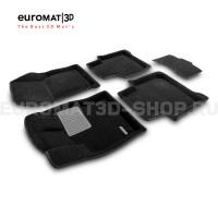 Текстильные 3D коврики Euromat3D Business в салон для Skoda Kodiaq (2017-) № EMC3D-004512