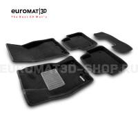 Текстильные 3D коврики Euromat3D Business в салон для Jaguar XJ (2014-) № EMC3D-002754