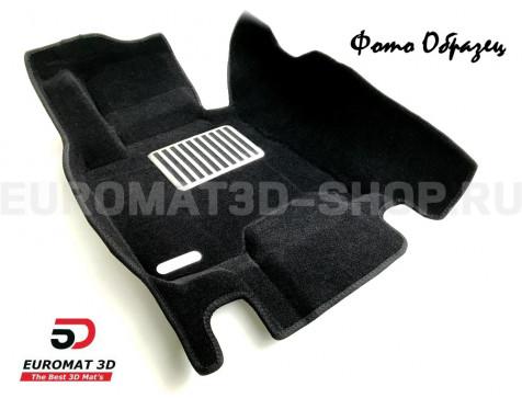 Текстильные 5D коврики с высоким бортом Euromat3D в салон для Audi A6 (2011-2018) № EM5D-001107