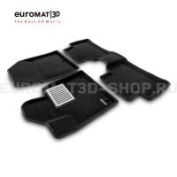Текстильные 3D коврики Euromat3D Lux в салон для Kia Sorento (2020-) № EM3D-002900